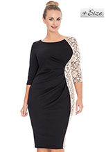 Boat-Neck-Jersey-and-Lace-Ruched-Plus-Size-Midi-Dress