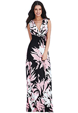 Wholesale-V-Neck-Floral-Print-Summer-Maxi-Dress_2