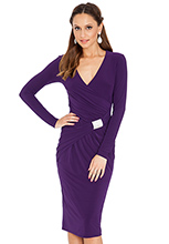 Jersey-wrap-ruched-dress