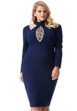 Plus-Size-Embellished-Cut-Out-Midi-Dress