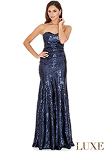 Strapless-Sequined-Dress