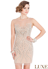 Wholesale-Embellished-Mesh-Flapper-Dress