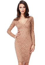 Wholesale-Open-Back-Lace-Midi-Dress