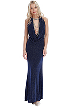 Wholesale-Glitter-Cowl-Neck-Maxi-Dress