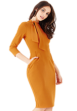 Wholesale-Midi-Dress-with-Pockets