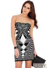 Strapless-Print-Bodycon-Dress