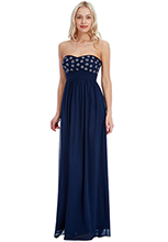 Wholesale-Strapless-Floral-Embellished-Maxi-Dress