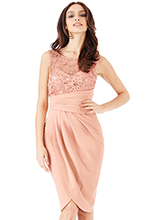 Wholesale-Star-Embellished-Midi-Dress-with-Split-Detail