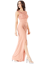 Wholesale-Star-Embellished-Maxi-Dress-with-Split-Detail