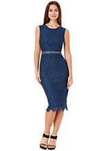 Wholesale-Lace-Midi-Dress-with-Zip-Detail