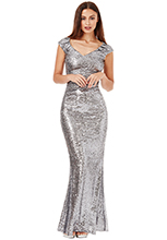 Wholesale-Sweetheart-Neckline-Sequin-Pleated-Maxi-Dress