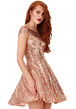 Wholesale-Sequin-Skater-Dress