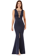 Wholesale-Embellished-Maxi-Dress-with-Split-Detail