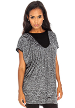 Oversized-Ruched-Metallic-Top