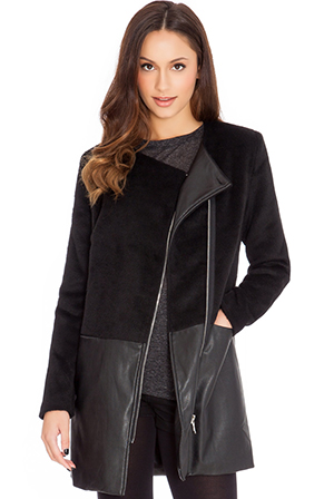 Zip-Front-Knee-Length-Coat