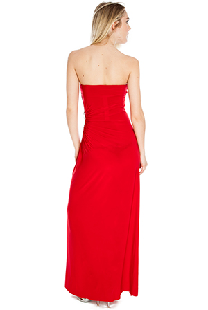 Wholesale Maxi Tube Dress with Round Diamante at Waist