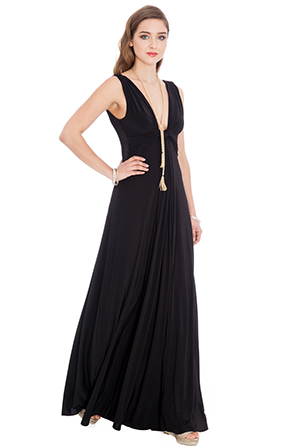 Draped-Grecian-Maxi-Dress