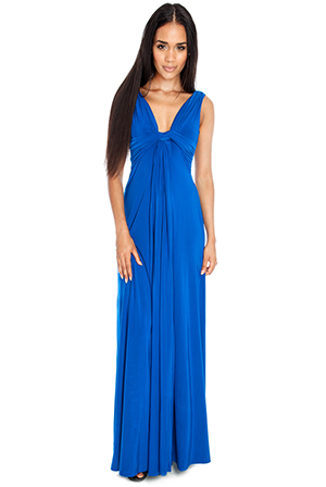 Wholesale-Draped-Grecian-Column-Panel-Maxi-Dress