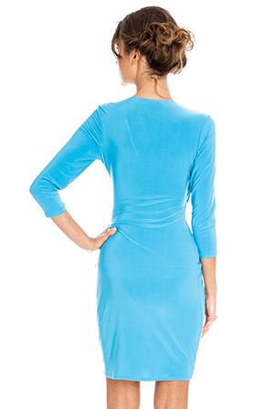 Wholesale Stretch Wrap Dress in the style of Naya Rivera