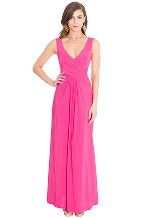 Wholesale Crossover Sleeveless Maxi Dress