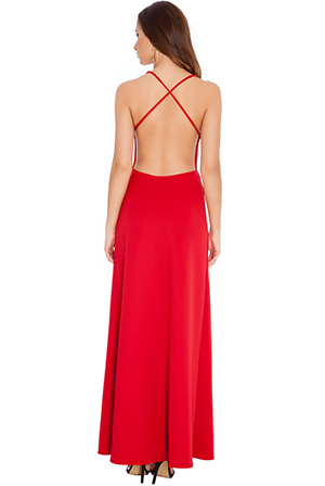 Wholesale Backless Glam Maxi in the style of Rihanna