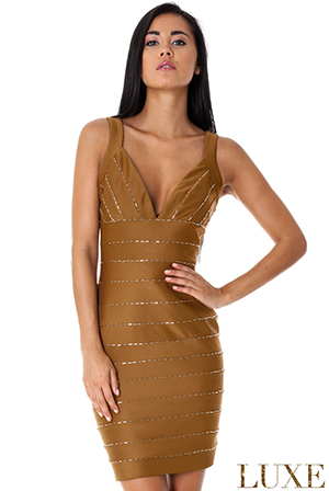 Wholesale Beaded Bandage Style Bodycon Dress in the style of Kim Kardashian