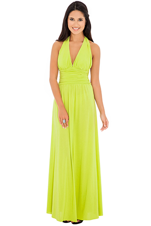 Wholesale Halter Neck Maxi Dress