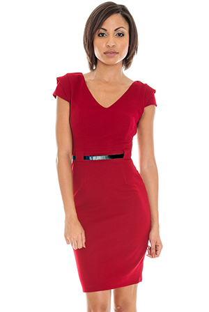 Cap-sleeve-tailored-dress