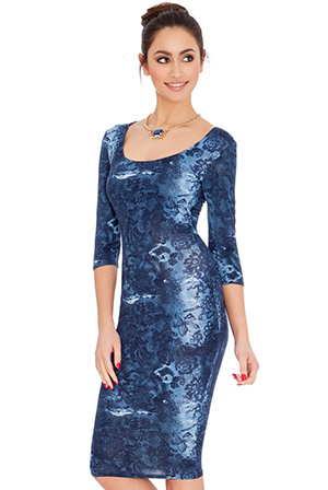 Floral-Print-Quarter-Sleeved-Midi-Dress_3