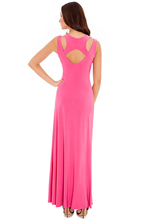Wholesale Cut Out Detail Muscle Back Maxi Dress