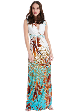 Wholesale Exotic Print Maxi Dress