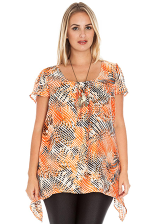 Wholesale Short Sleeved Plus Size Tunic Shirt