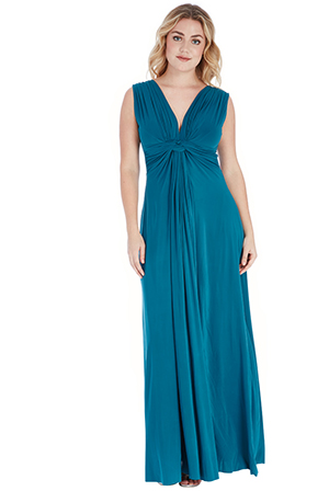 Wholesale Knot Front Plus Size Maxi Dress