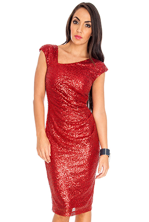 Wholesale Knee Length Sequin Dress