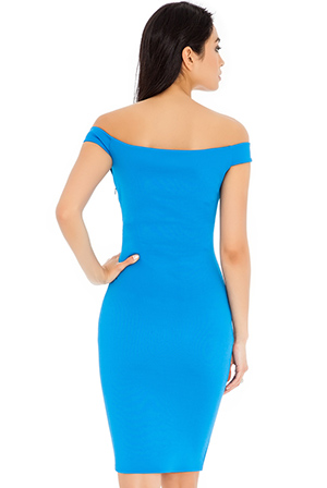 Wholesale Bardot style bodycon midi dress