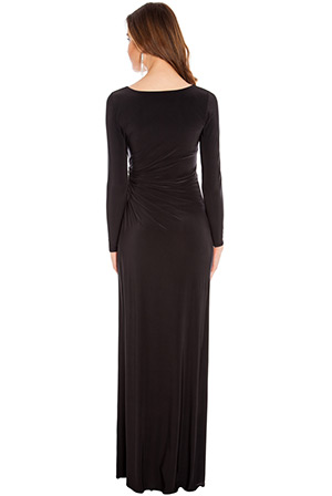 Wholesale Long sleeve diamante maxi dress