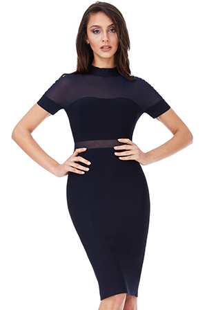 Wholesale-Short-Sleeved-Cut-Out-Bodycon-Dress