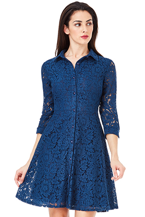 Wholesale-Lace-Shirt-Dress