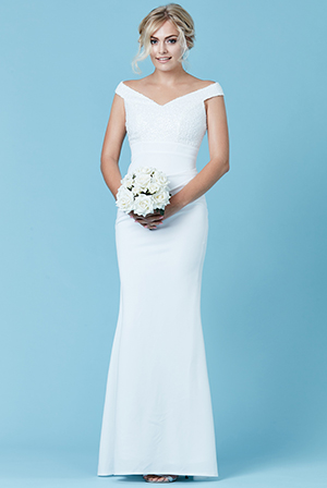 Wholesale-Off-The-Shoulder-Sequin-Maxi-Wedding-Dress