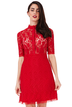 Wholesale-Lace-Shirt-Dress-with-Scallop-Detail