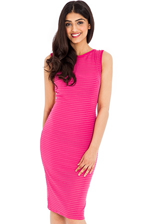 Wholesale Cut Out Back Ribbed Midi Dress