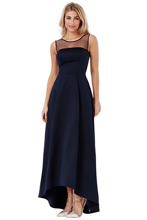 Wholesale-Sleeveless-Satin-Maxi-Dress-with-Mesh-Detail