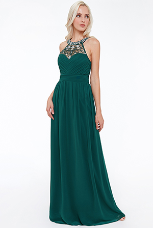 Wholesale-Embellished-Chiffon-Maxi-Dress-with-Scarf-DR1079BR