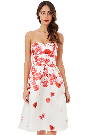 Wholesale-Cascading-Floral-Print-Midi-Dress