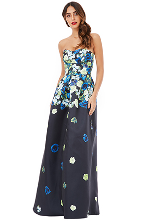 Wholesale-Cascading-Floral-Print-Maxi-Dress