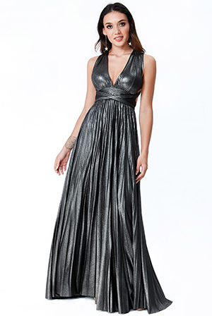 Wholesale-Deep-V-Neck-Metallic-Maxi-Dress-DR1084C