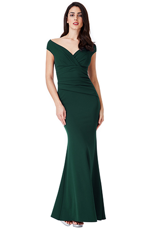Wholesale-Bardot-Pleated-Maxi-Dress-DR1092B