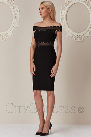 Wholesale Stephanie Pratt Bardot Cut Out Bodycon Dress