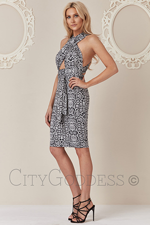 Wholesale-Stephanie-Pratt-Multi-Way-Snake-Print-Midi-Dress