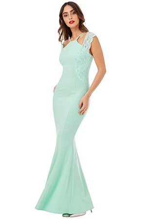 Wholesale-Sleeveless-Maxi-Dress-with-Lace-Detail